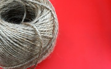 macro, background, tangle, red background, thread, twine, yarn, string