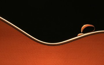 macro, guitar, music, sheet, black background, bending