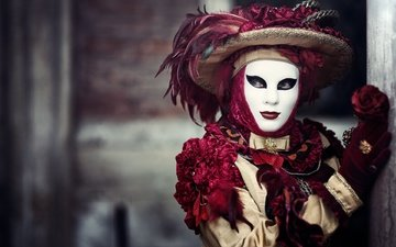 maske, venedig, kostüm, karneval