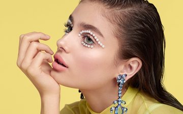 decoration, style, girl, look, model, profile, hair, face, makeup, taylor hill, daniel sannwald