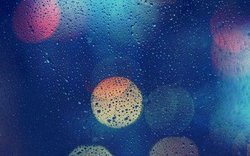background, drops, color, glass, on, bokeh, water drops