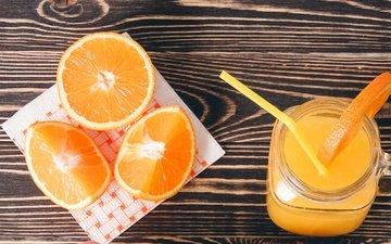 напиток, апельсины, сок, фреш