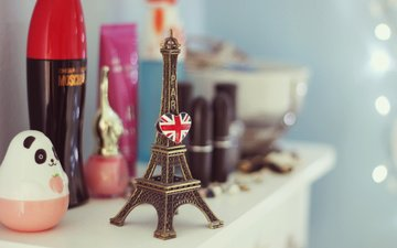wallpaper, background, figurine, eiffel tower, mood.