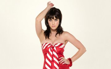dress, pose, brunette, look, singer, katy perry