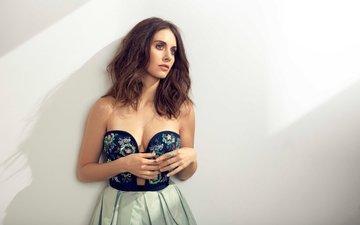 платье, взгляд, актриса, фотосессия, элисон бри, randall slavin, ny post, elison brie