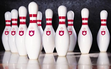 strip, reflection, bowling, pins, skittles, marking
