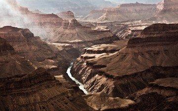 река, горы, сша, ущелье, grand canyon national park, гранд каньон