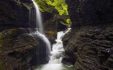 скалы, камни, водопад