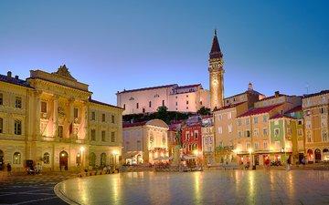 the city, home, area, slovenia, piran