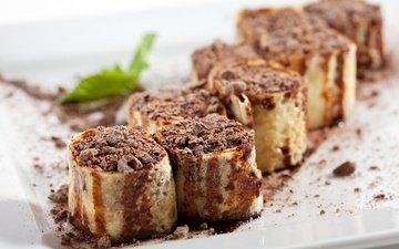 шоколад, сладкое, печенье, выпечка, начинка