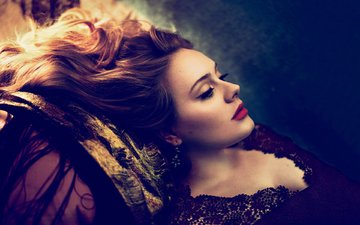 style, portrait, profile, hair, singer, makeup, photoshoot, vogue, adele