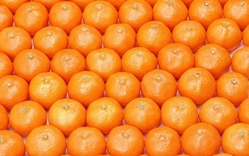 текстура, фрукты, много, мандарины, цитрусы