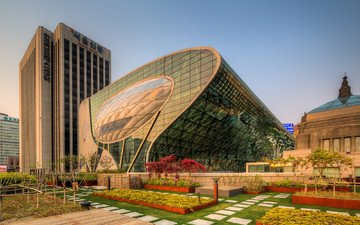 город, сеул, южная корея, мэрия, new city hall