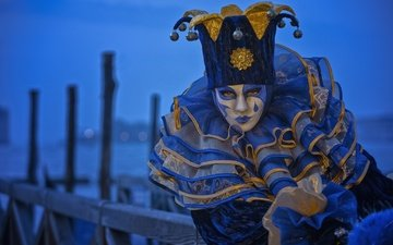 the evening, girl, venice, model, costume, marina, carnival