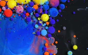 water, background, color, paint, blur, balls, zd