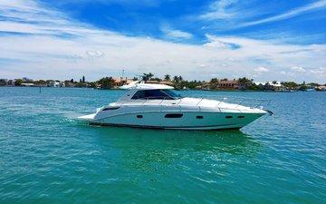 sea, yacht, tropics