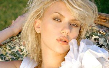 девушка, блондинка, портрет, модель, лицо, актриса, скарлет йохансон, длинные волосы, знаменитость