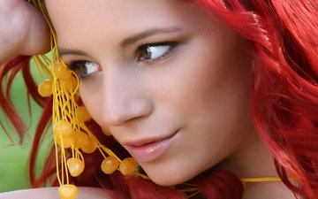 decoration, girl, look, model, lips, face, red hair, ariel piper, ariel piper fawn