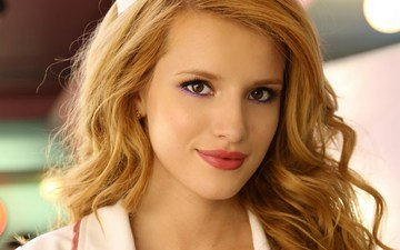 girl, look, red, hair, face, actress, bella thorne