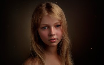 portrait, look, children, girl, hair, face, child, lisa, elizabeth, stepan gladkov