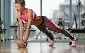 girl, the ball, fitness, sports wear, training, workout