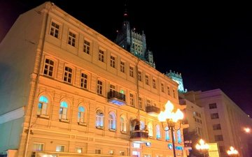 lights, moscow, stay, balcony, mansion, mfa, arbat, old moscow