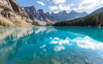 озеро, горы, природа, отражение