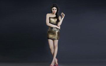 girl, brunette, feet, actress, heels, celebrity, ada sharma