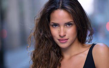 girl, portrait, look, hair, lips, face, actress, moles, adria arjona