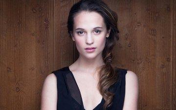 girl, look, hair, face, actress, celebrity, alicia vikander