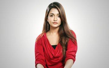девушка, взгляд, волосы, лицо, актриса, индийская, anaika soti