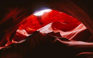скалы, каньон, каньон антилопы, штат аризона