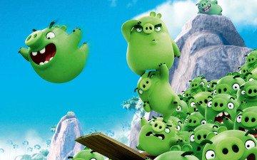 movie, cinema, pig, film, green, angry birds, rovio entertainment, game, animated film, montain, rovio, animatem movie, bad piggies