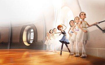 cartoon, ballerina