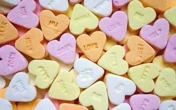 конфеты, любовь, сердца, сердечки, сладкое, десерт