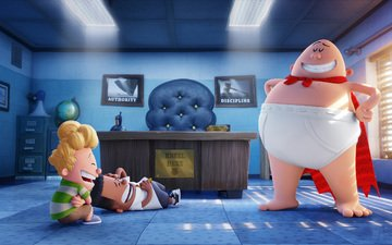 анимация, captain underpants, george beard, harold hutchins
