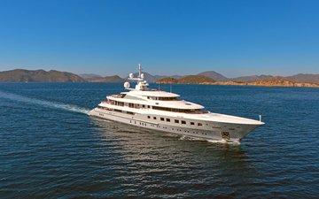 landscape, sea, yacht, 27