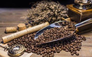 винтаж, ретро, кофе, часы, кофейные зерна, 600, кофемолка
