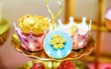 украшение, выпечка, десерт, капкейки