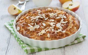 корица, яблоки, выпечка, пирог