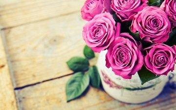 розы, букет, ваза