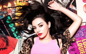 girl, background, look, hair, face, singer, posing, charlotte emma, atchison, charli xcx