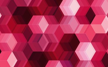 abstraction, color, form, cubes, pink, geometry