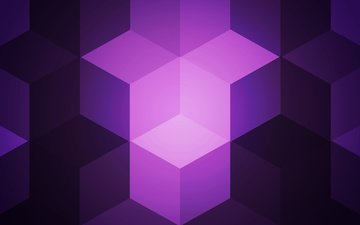 abstraction, color, form, cubes, cube, geometry, purple
