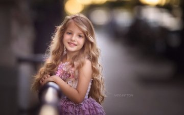 dress, smile, look, children, girl, hair, face, child, curls