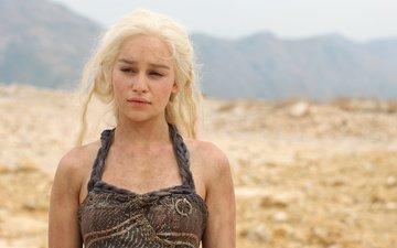 девушка, блондинка, актриса, сериал, игра престолов, эмилия кларк, дейенерис таргариен