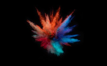 color, background, paint, black background, the explosion