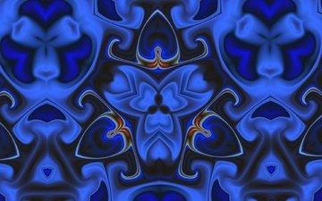 абстракция, цветок, узор, цвет, форма, фрактал, калейдоскоп