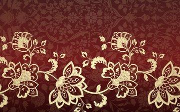 flowers, texture, pattern, ornament