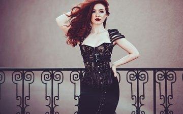 фон, платье, поза, модель, фигура, jessamyne rose